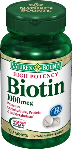 Natures-Bounty-Biotin-1000mcg-100-Tablets-Pack-of-3-0