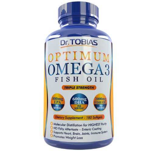 Omega-3-Fish-Oil-Pills-180-Counts-Triple-Strength-Fish-Oil-Supplement-1400mg-Omega-3-Fatty-Acids-600mg-DHA-800-mg-EPA-per-Serving-Burpless-Capsules-with-Enteric-Coating-And-Pharmaceutical-Grade-Essent-0