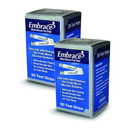 100-EMBRACE-Blood-Glucose-Test-Strips-2-Boxes-of-50-includes-FREE-Lancets-0