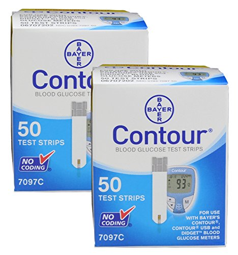 Diabetes-Testing-Kit-Contour-Meter-100-Contour-Test-Strips-100-Active1st-30g-Lancets-Lancing-Device-0-1