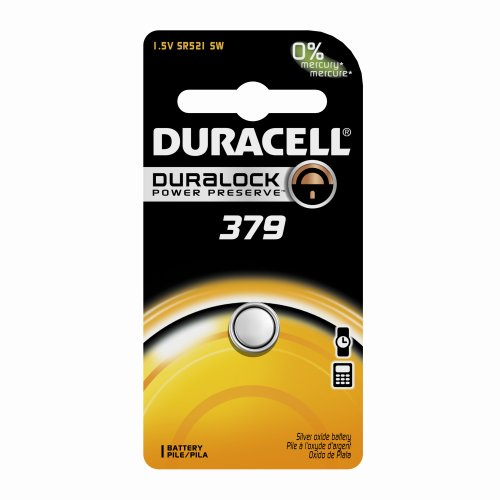 Duracell-D379BPK09-Silver-Oxide-Electronic-Watch-Battery-379-Size-155V-14-mAh-Capacity-Case-of-6-0