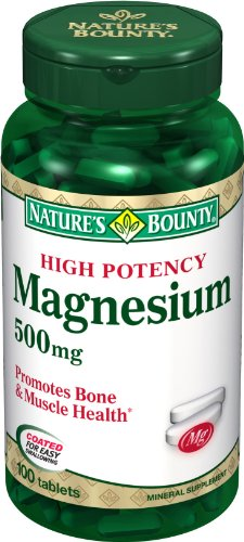 Natures-Bounty-High-Potency-Magnesium-500mg-100-Tablets-Pack-of-6-0