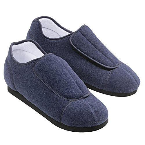 Adjustable-Comfortable-Health-Slippers-Mens-9-10-Navy-0