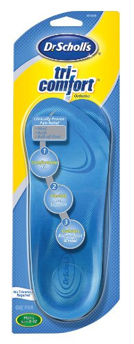 Dr-Scholls-Tri-Comfort-Orthotics-Inserts-Mens-Size-8-12-1-Pair-Packages-Pack-of-3-0