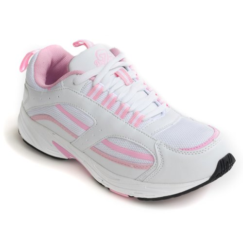 Dr-Zen-Lori-Womens-Therapeutic-Diabetic-Extra-Depth-Shoe-WhitePink-8-Wide-E-3E-Lace-0