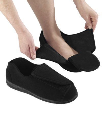 Mens-Extra-Extra-Wide-Slippers-Swollen-Feet-Diabetic-Black-9-0