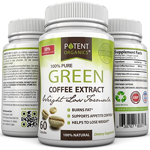 Pure-Green-Coffee-Extract-in-60-Capsules-Helps-Lose-Weight-Burn-Fat-Pure-Natural-Appetite-Suppressant-Supplement-with-No-Side-Effects-100-Money-Back-Guarantee-Order-Risk-Free-0