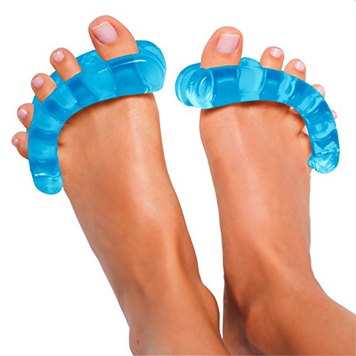 Original-YogaToes-Medium-Sapphire-Blue-Toe-Stretcher-Separator-Fight-Bunions-Hammer-Toes-More-0