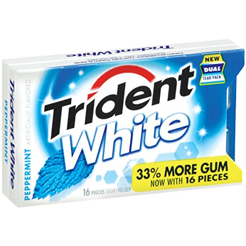 Trident-White-Sugar-Free-Gum-Peppermint-16-Piece-Package-Pack-of-9-0